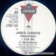 Discos de vinilo: JANICE CHRISTIE, HEAT STROKE, MAXI-SINGLE UK 1986. Lote 107050231