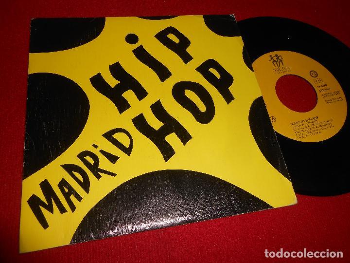 MADRID HIP-HOP VAS A ALUCINAR/JUANA 7'' SINGLE 1989 PROMO TROYA SPAIN ESPAÑA (Música - Discos - Singles Vinilo - Rap / Hip Hop)