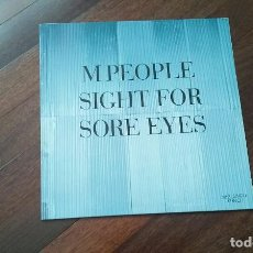 Discos de vinilo: M PEOPLE-SIGHT FOR SORE EYES.MAXI. Lote 107093639