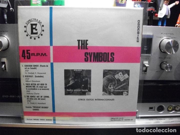 Discos de vinilo: THE SYMBOLS CANADIAN SUNSET + 3 EP SPAIN 1968 PEPETO TOP - Foto 2 - 107110719
