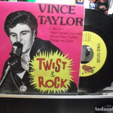 Discos de vinilo: VINCE TAYLOR I LIKE LOVE + 3 EP SPAIN 1992 PDELUXE. Lote 107111239