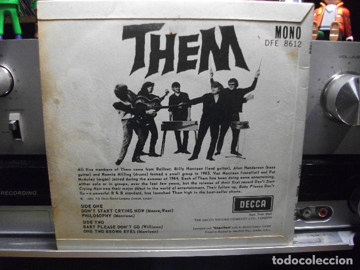 Discos de vinilo: THEM - VAN MORRISON : DON´T START CRYING NOW +3 ep uk 1965 PEPETO TOP - Foto 2 - 107125679