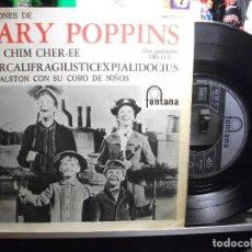 Discos de vinilo: THE JETS / RAY WALSTON THUNDERBALL / MARY POPPINS EP SPAIN 1966 PEPETO TOP . Lote 107130099