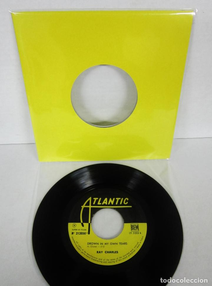 RAY CHARLES - DROWN IN MY OWN TEARS + 3 - EP - ATLANTIC 1962 FRANCE 212050 IN PERSON CARPETA NEUTRA (Música - Discos de Vinilo - EPs - Jazz, Jazz-Rock, Blues y R&B)