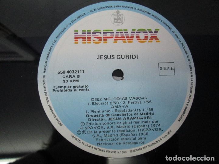 Discos de vinilo: JESUS GURIDI 1886-1986. DIEZ MELODIAS VASCAS. LP VINILO HISPAVOX 1986. VER FOTOGRAFIAS ADJUNTAS - Foto 4 - 107225227