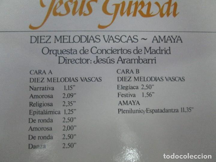 Discos de vinilo: JESUS GURIDI 1886-1986. DIEZ MELODIAS VASCAS. LP VINILO HISPAVOX 1986. VER FOTOGRAFIAS ADJUNTAS - Foto 7 - 107225227