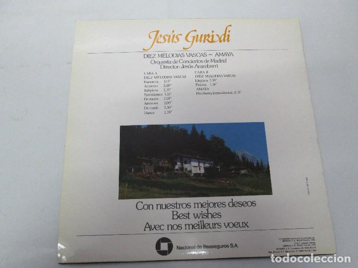 Discos de vinilo: JESUS GURIDI 1886-1986. DIEZ MELODIAS VASCAS. LP VINILO HISPAVOX 1986. VER FOTOGRAFIAS ADJUNTAS - Foto 8 - 107225227