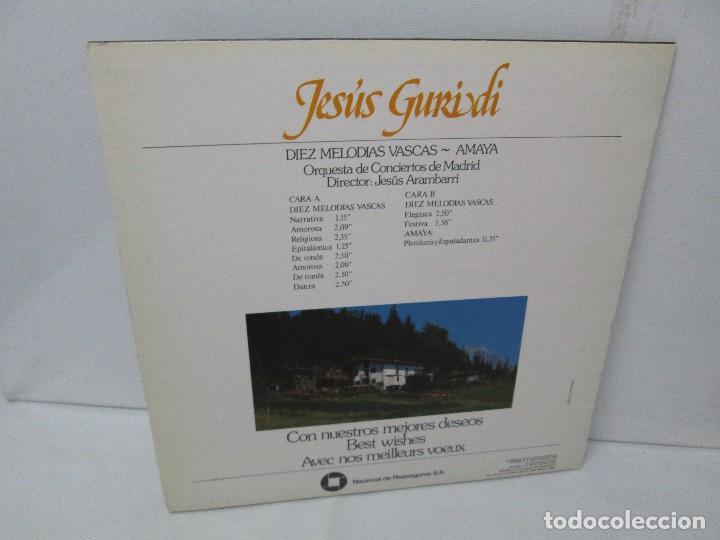 Discos de vinilo: JESUS GURIDI 1886-1986. DIEZ MELODIAS VASCAS. LP VINILO HISPAVOX 1986. VER FOTOGRAFIAS ADJUNTAS - Foto 9 - 107225227