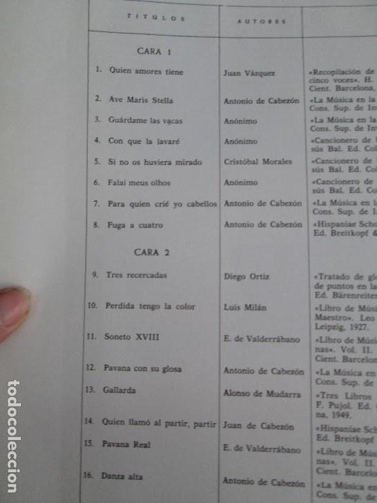 Discos de vinilo: MONUMENTOS HISTORICOS DE LA MUSICA ESPAÑOLA. 4LP VINILO. EL CANTO MOZARABE. MUSICA INSTRUMENTAL ... - Foto 6 - 107227371