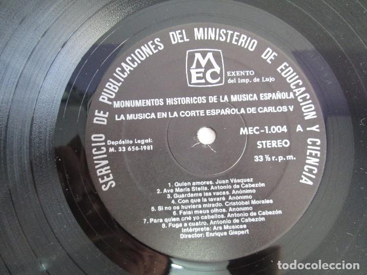 Discos de vinilo: MONUMENTOS HISTORICOS DE LA MUSICA ESPAÑOLA. 4LP VINILO. EL CANTO MOZARABE. MUSICA INSTRUMENTAL ... - Foto 9 - 107227371