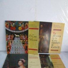 Discos de vinilo: MONUMENTOS HISTORICOS DE LA MUSICA ESPAÑOLA. 4LP VINILO. EL CANTO MOZARABE. MUSICA INSTRUMENTAL .... Lote 107227371