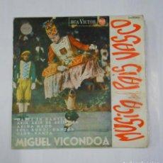 Discos de vinilo: MUSICA DEL PAIS VASCO. MIGUEL VICONDOA. GAZTE EN DANTZA. ARIÑ ARIÑ DE ARTIKUTZA. TDKDS9. Lote 107230483