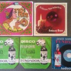 Discos de vinilo: LOTE EPS SINGLES TIO PEPE GONZALEZ BYASS DISCO SORPRESA FUNDADOR. Lote 107238999