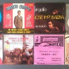 Discos de vinilo: LOTE EPS SINGLES FLAMENCO COPLA. Lote 107239191