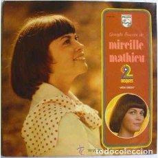 Discos de vinilo: MIREILLE MATHIEU - GRANDS SUCCÈS DE MIREILLE MATHIEU - DOBLE LP FRANCE 1975 . Lote 107263267