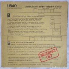 Discos de vinilo: UB40 – SIGNING OFF. Lote 107280143