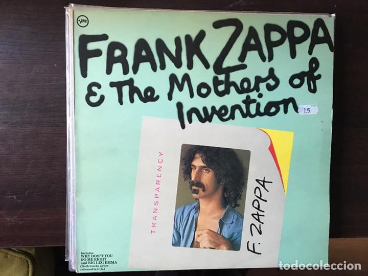 TRANSPARENCY. FRANK ZAPPA (Música - Discos - LP Vinilo - Pop - Rock - Extranjero de los 70)