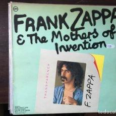 Discos de vinilo: TRANSPARENCY. FRANK ZAPPA. Lote 107300176