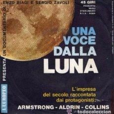 Discos de vinilo: UNA VOCE DALLA LUNA - CON LAS VOCES DE ARMSTRONG COLLINS ALDRIN - L'EUROPEO 1969 - EN ITALIANO. Lote 107302159
