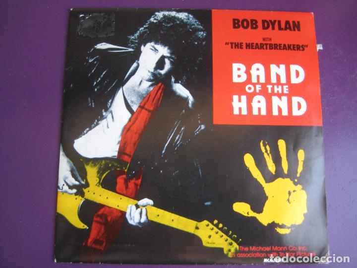 BOB DYLAN & THE HEARTBREAKERS SG MCA 1986 PROMO - BAND OF THE HAND - BSO TOM PETTY (Música - Discos - Singles Vinilo - Cantautores Internacionales)