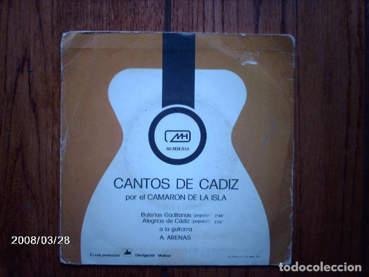 Discos de vinilo: camaron de la isla - cantos de cádiz - bulerías gaditanas + alegrías de cádiz - Foto 2 - 107304495