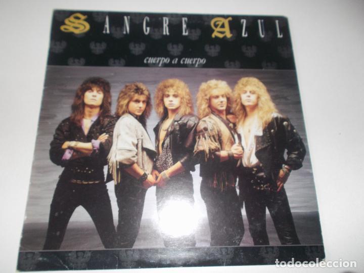 SANGRE AZUL CUERPO A CUERPO 1988 HISPAVOX (Música - Discos - LP Vinilo - Heavy - Metal)