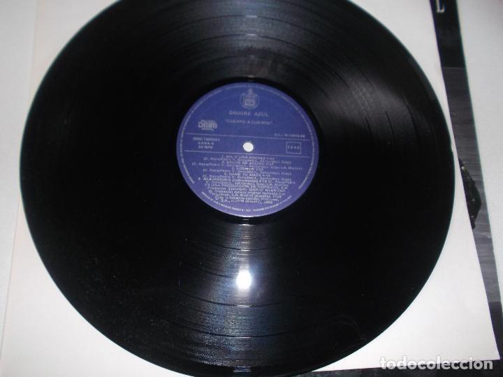 Discos de vinilo: SANGRE AZUL CUERPO A CUERPO 1988 HISPAVOX - Foto 2 - 107305591