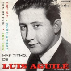 Discos de vinilo: LUIS AGUILÉ, EP, VERDE, VERDE + 3, AÑO 1964. Lote 107309831