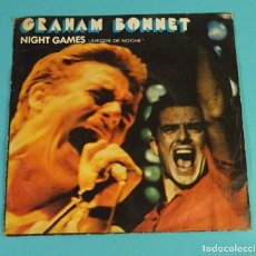 Discos de vinilo: GRAHAM BONNET. NIGHT GAMES. OUT ON THE WATER. Lote 107311931