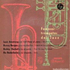 Discos de vinilo: FAMOSOS TROMPETAS DEL JAZZ, EP, LOUIS ARMSTRONG - WEATHERBIRD + 3, AÑO 1959. Lote 107312551