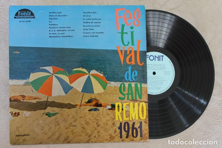 FESTIVAL DE SAN REMO 1961 LP VINYL MADE IN SPAIN 1961 (Música - Discos - LP Vinilo - Otros Festivales de la Canción)