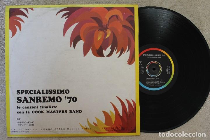 Discos de vinilo: SPECIALISSIMO SAN REMO 70 LP VINYL MADE IN ITALY 1970 - Foto 2 - 107313979