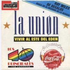 Discos de vinilo: LA UNION_LA DAMA SE ESCONDE_PROMO COCA-COLA_VINILO 7'' COMO NUEVO!!!. Lote 107372139