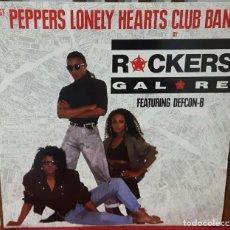 Discos de vinilo: ROCKERS GALORE FEATURING DEFCON B - SGT PEPPER'S - BEATLES - RARO - MAXISINGLE - UK - 1987. Lote 107419083