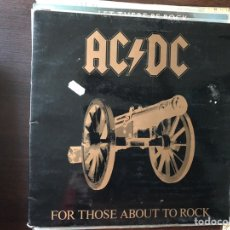 Discos de vinilo: FOR THOSE ABOUT TO ROCK. ACDC. Lote 107429830