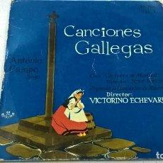 Discos de vinilo: CANCIONES GALLEGAS-ANTONIO CAMPO-MEUS AMORES + 3 -EP-N. Lote 107431247