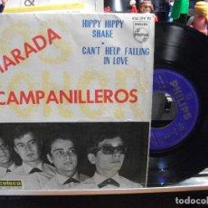 Discos de vinilo: LOS SONOR CAMPANILLEROS /HIPPY H.SHAKE EP SPAIN 1964 PEPETO TOP . Lote 107431723