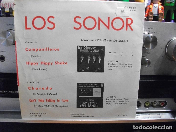 Discos de vinilo: LOS SONOR CAMPANILLEROS /HIPPY H.SHAKE EP SPAIN 1964 PEPETO TOP - Foto 2 - 107431723