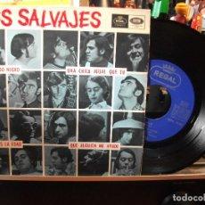 Discos de vinilo: LOS SALVAJES TODO NEGRO /ES LA EDAD EP SPAIN 1966 PEPETO TOP . Lote 107434711