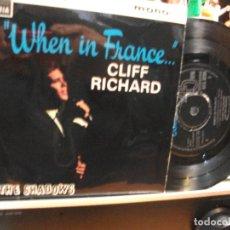 Discos de vinilo: CLIFF RICHARD WHEN IN FRANCE...... EP UK 1964 PEPETO TOP . Lote 107436007