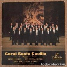 Discos de vinilo: CORAL SANTA CECILIA - IGNACIO GOÑI - SORGIN DANTZA. Lote 107450907
