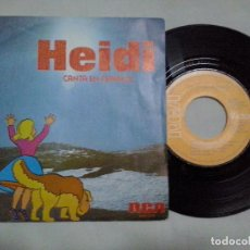 Discos de vinilo: MUSICA SINGLE: HEIDI- CANTA EN ESPAÑOL. OYE / DIME ABUELITO (ABLN). Lote 107468535