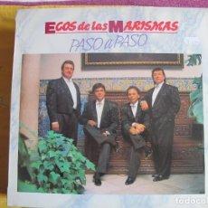 Discos de vinilo: LP - SEVILLANAS - ECOS DE LAS MARISMAS - PASO A PASO (FONOMUSIC 1991). Lote 107487043