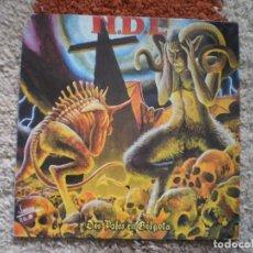 Discos de vinilo: LP. N.D.E. DOS PALOS EN GOLGOTA. ORIGINAL 1992. ENCARTE LETRAS + HOJA ESCRITA POR EL GRUPO. Lote 107499399