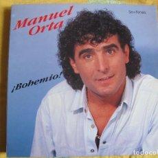 Discos de vinilo: LP - SEVILLANAS - MANUEL ORTA - BOHEMIO (FODS RECORDS 1990). Lote 107778627