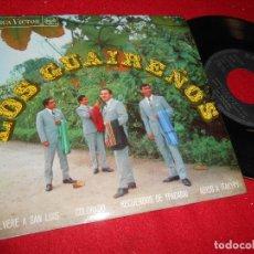 Discos de vinilo: LOS GUAIREÑOS VOLVERE A SAN LUIS/COLORADO/RECUERDOS DE YPACARAI +1 EP 1968 RCA VICTOR SPAIN ESPAÑA. Lote 107520799