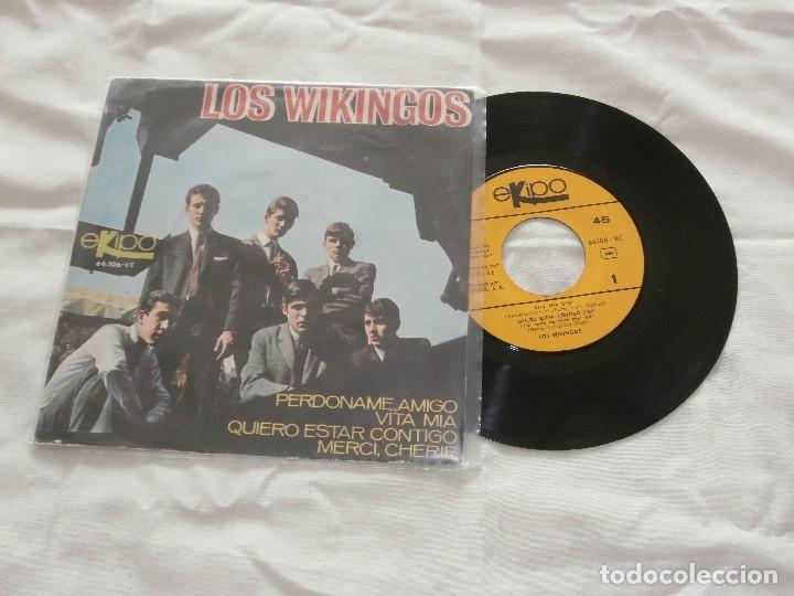 LOS WIKINGOS 7´EP PERDONAME AMIGO + 3 (1966) *COMO NUEVO* (Música - Discos de Vinilo - EPs - Grupos Españoles 50 y 60)