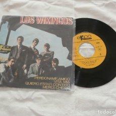 Discos de vinilo: LOS WIKINGOS 7´EP PERDONAME AMIGO + 3 (1966) *COMO NUEVO*. Lote 107557015