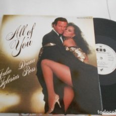 Discos de vinilo: JULIO IGLESIAS Y DIANA ROSS-MAXI-ALL OF YOU-ME VA ME VA-PROMOCIONAL. Lote 107594111