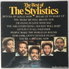 Discos de vinilo: THE STYLISTICS /THE BEST OF THE STYLISTICS 1974 UK. Lote 107595919